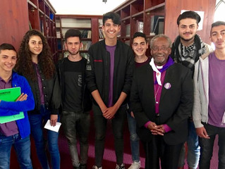 JPB TEENS MEET TOP BISHOP OF THE EPISCOPAL CHURCH: Youth deliver speeches on how JPB has changed the