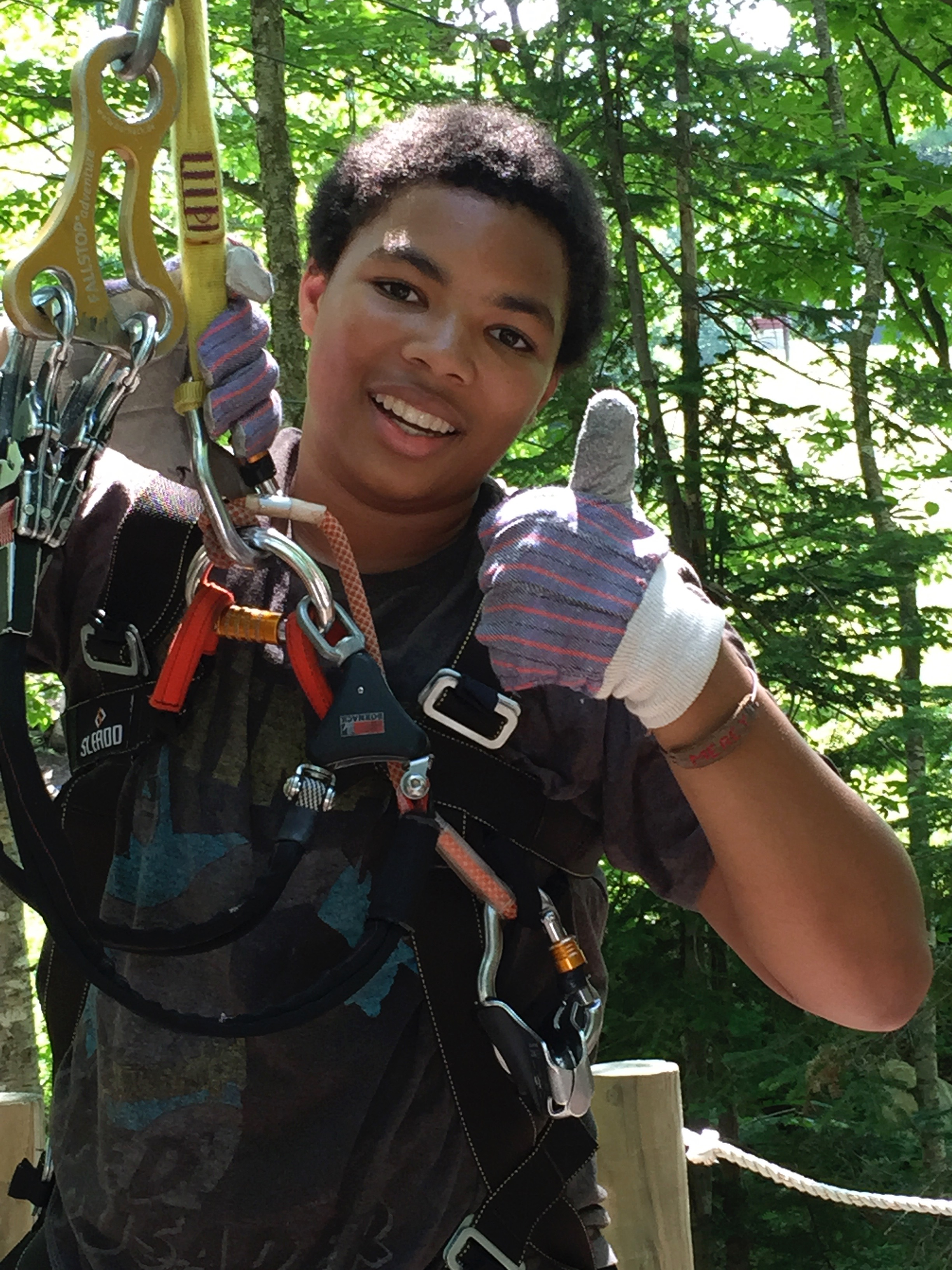 Testing limits on the ropes course