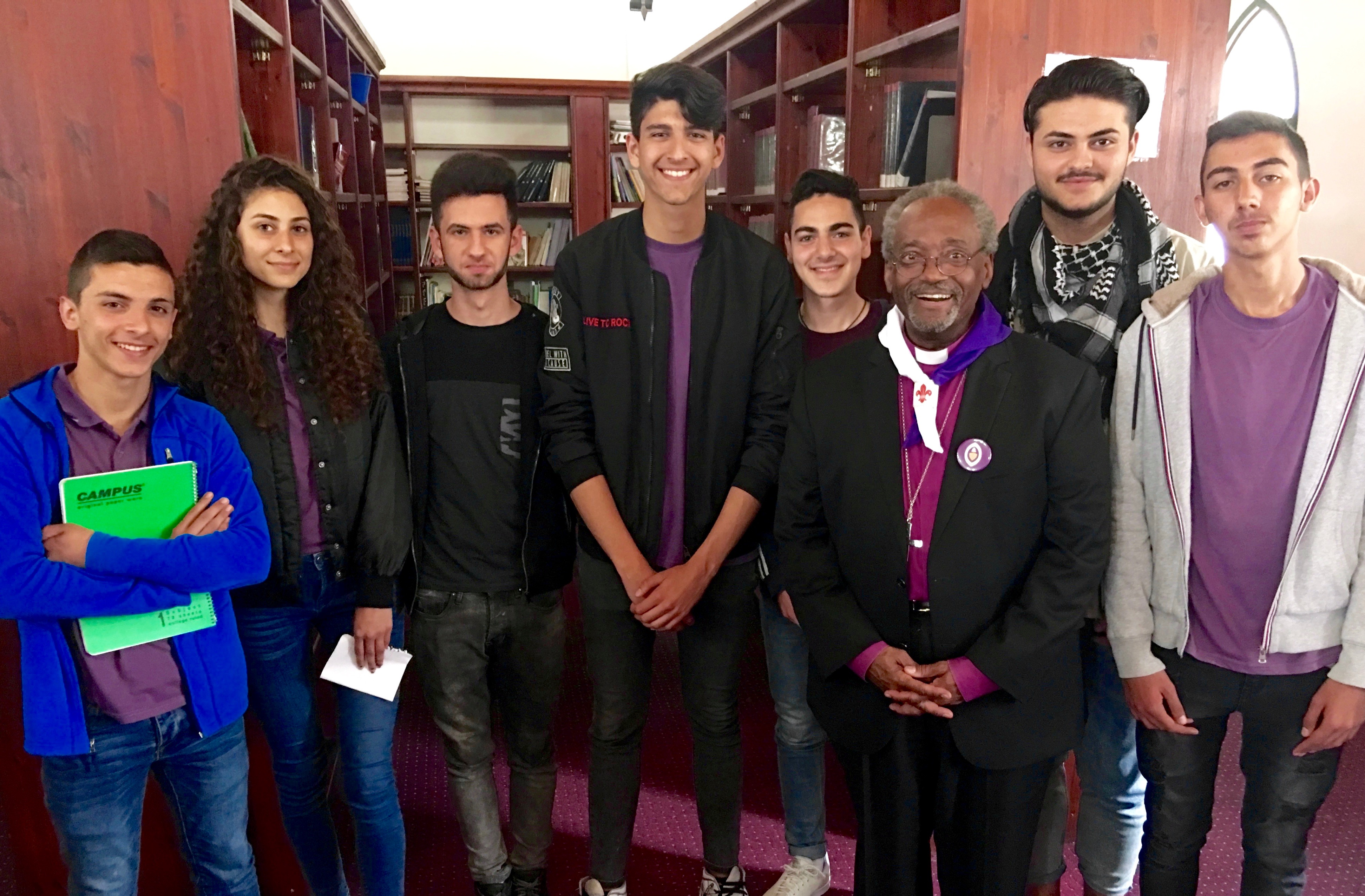Christ School teens meet top bishop