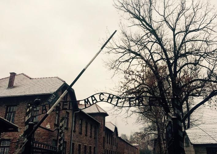 Visiting Auschwitz on a school trip to Poland