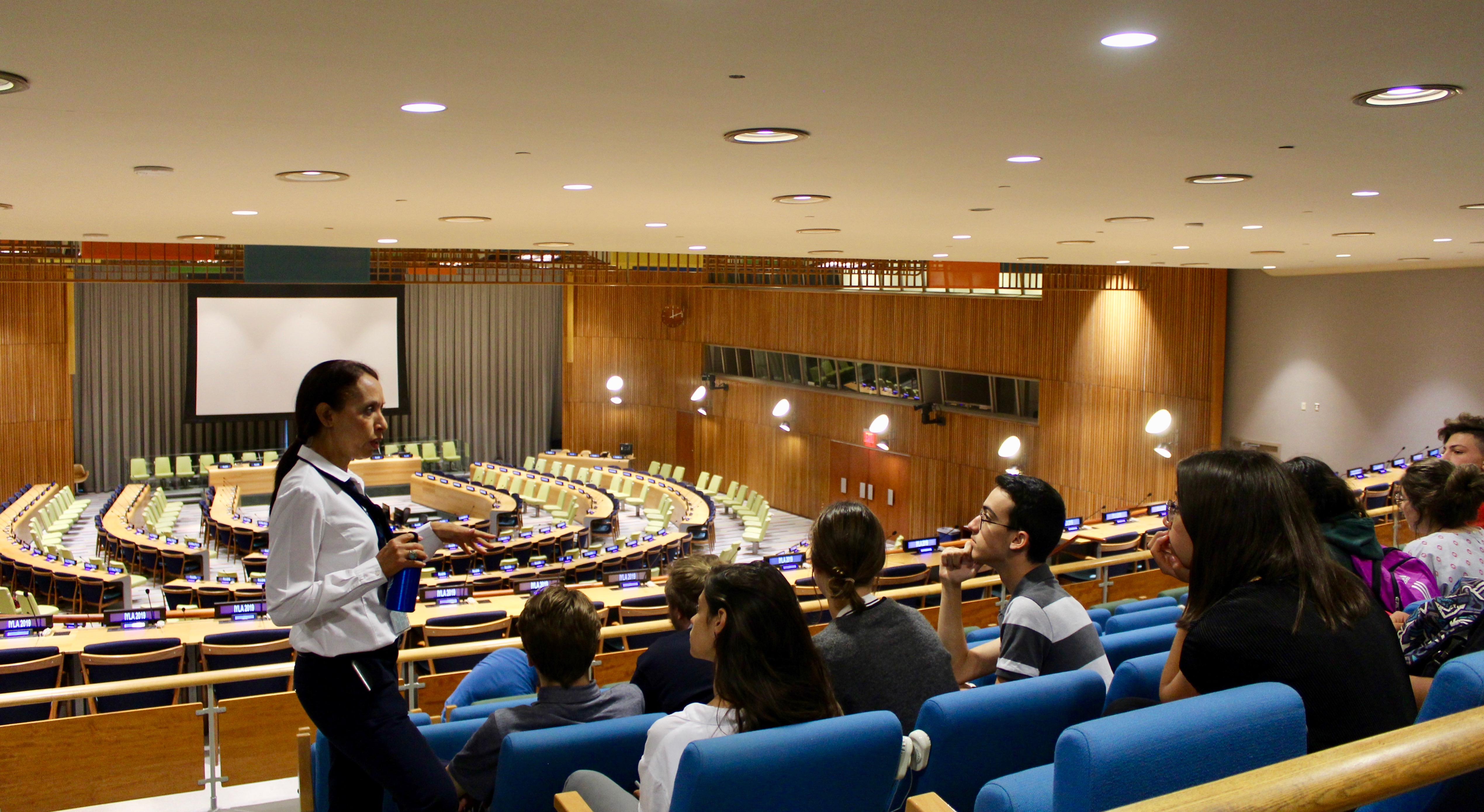 Touring the UNHQ in NYC