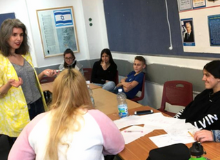 LEARNING LEADERSHIP IN NETANYA: JPB leads multiple workshops at distinguished school