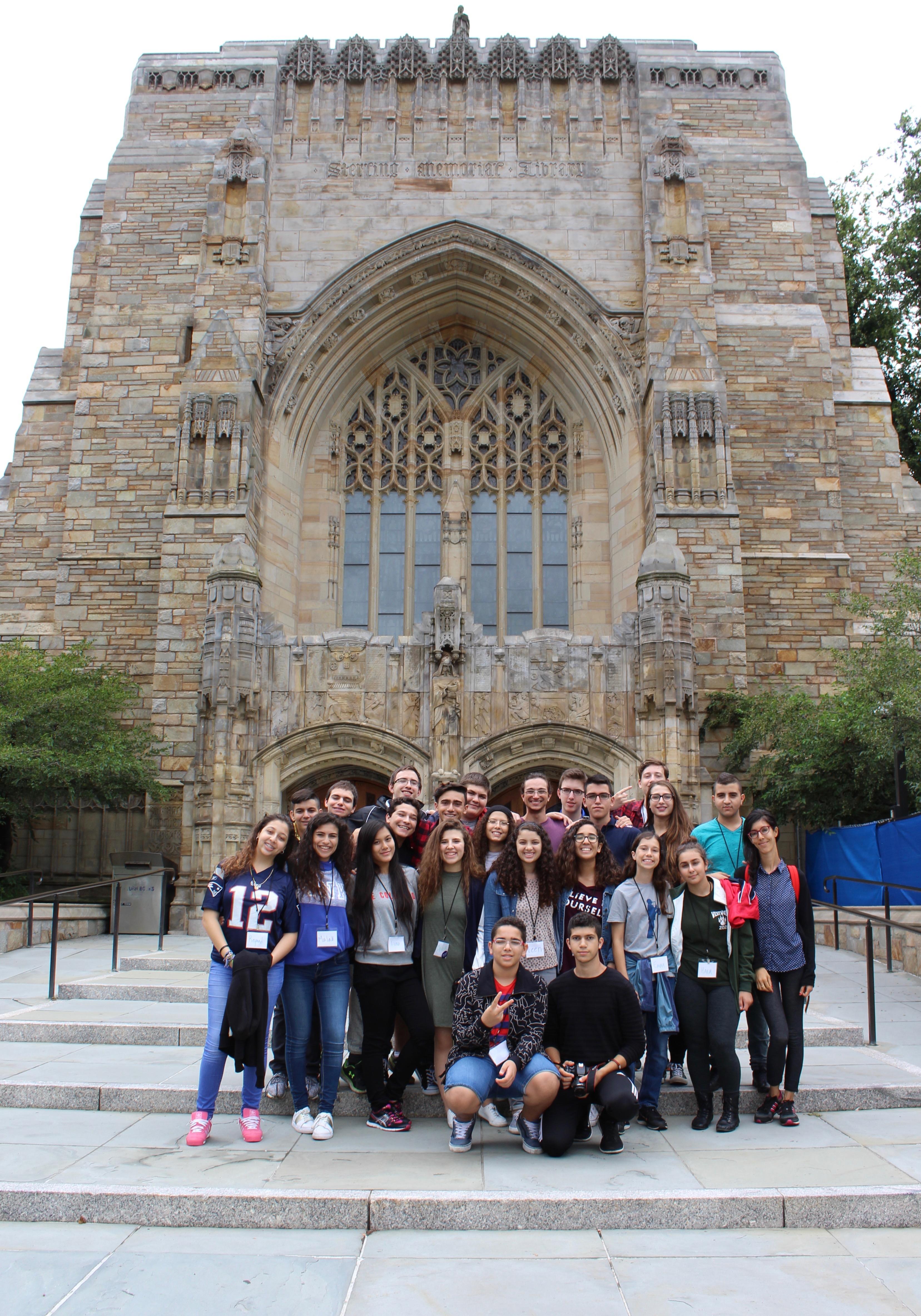 Touring Yale University