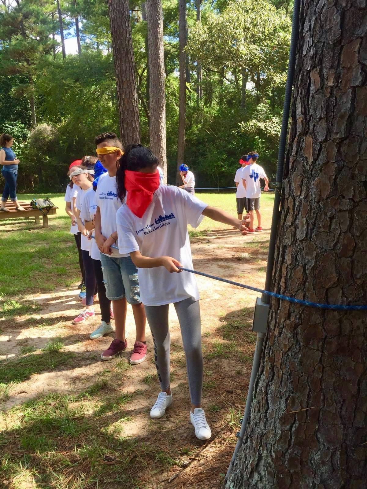 Low ropes challenge