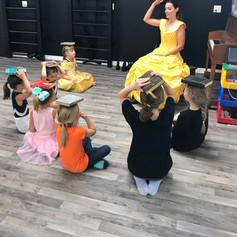 Belle teaches music at Disney Dance Day