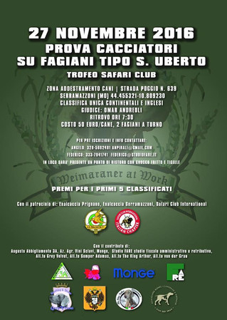 Il 27 novembre tuttia Serramazzoni!!!!
