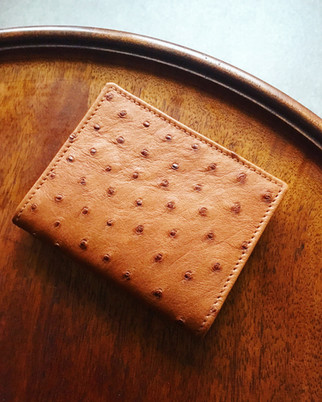 Bespoke Ostrich Credit Card Wallet