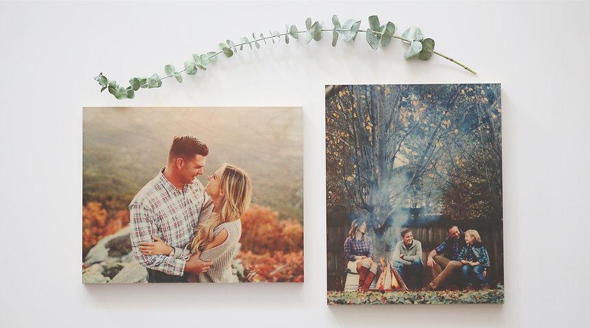 Family Photo On Wood