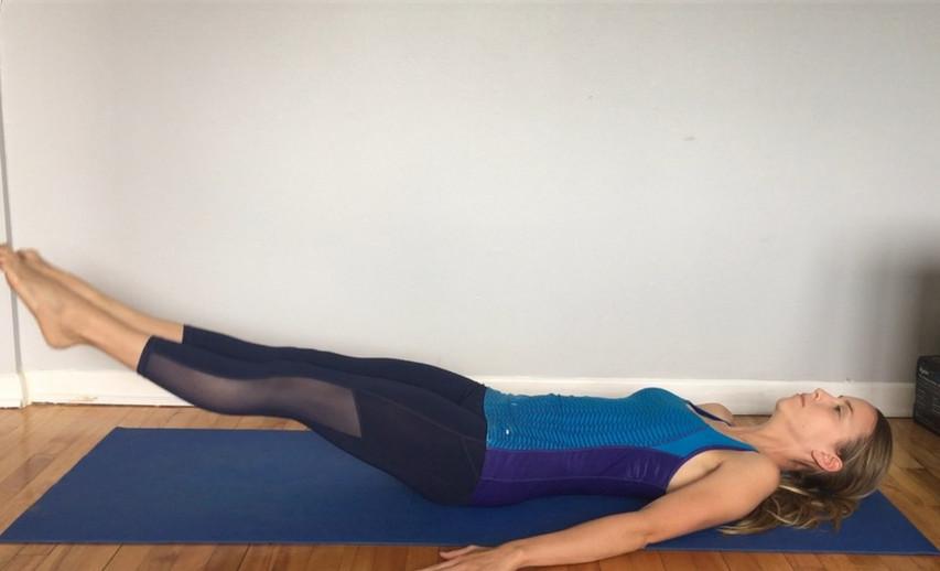 Exercice de levée de jambes