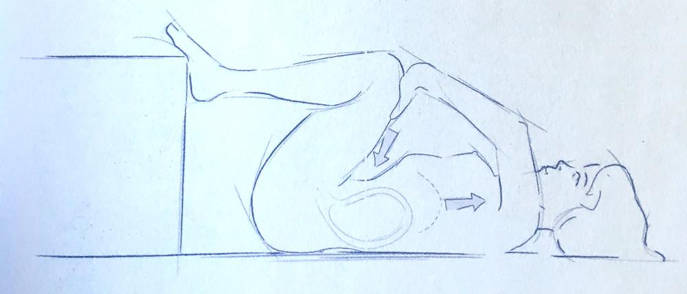 Image tirée du livre Trouver sa position d'accouchement de Dr Bernadette De Gasquet