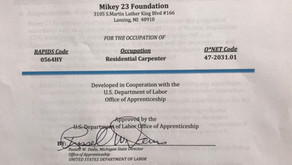 Mikey 23 Foundation Department of Labor - Official Paperwork