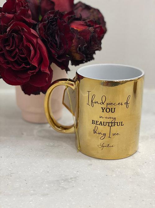 You Beautiful Gold Mug