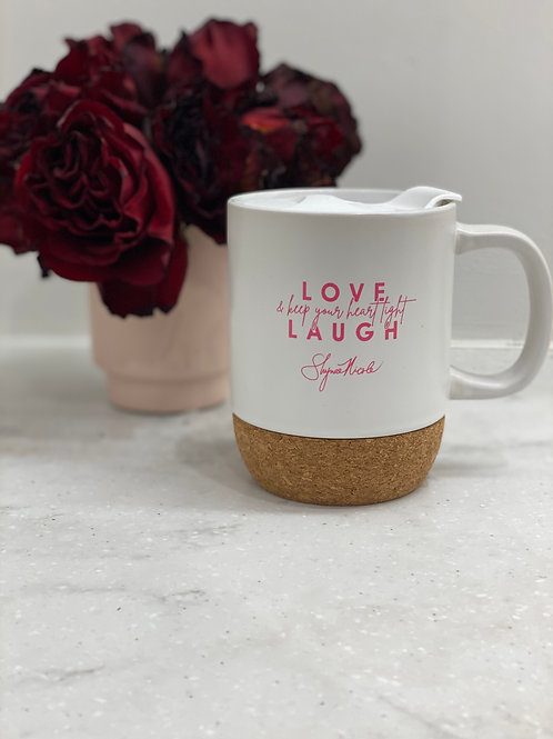 Love Laugh Light Travel Mug