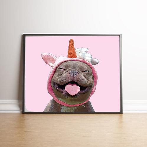 Comic Unicorn French Bulldog