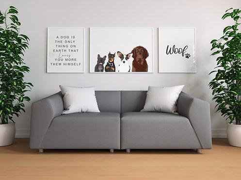 My fur family set of 3