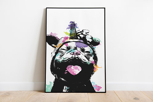 Neon Unicorn French Bulldog