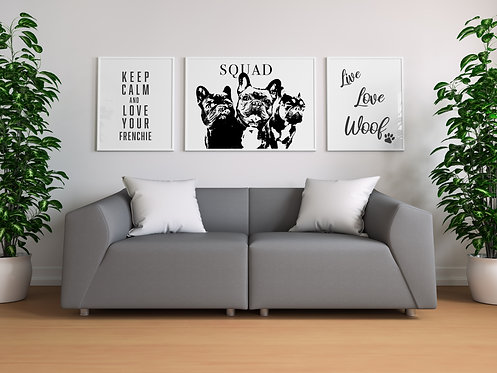 Frenchie Collection Set of 3