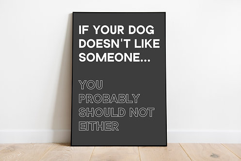 Dogs know best Quote