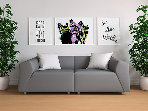 Neon Frenchie Collection Set of 3