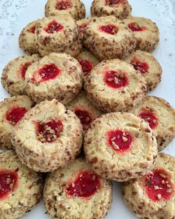 Pecan Sprinkled Cookies with a touch of Strawberry