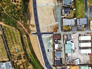 道路新設工事(上空写真2)
