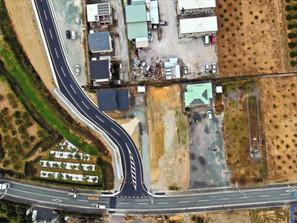 道路新設工事(上空写真1)