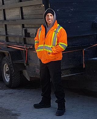 Brendon Rebillard, Junk To Go, Junk Removal Winnipeg, Garbage Truck, Dump trailer, dump truck, Garbage Removal, Bin service, dumpster, container