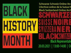 Schwarze Schweiz Online Archiv L'Archive online de la Suisse Noire Black Switzerland Online Archive