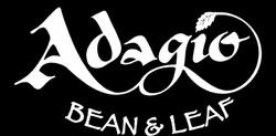 Adagio white on black