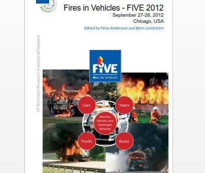 "FIVE 2012 Conference- ""Parking Brake Fires"" Paper by Kerry Parrott and Douglas Stahl Published"