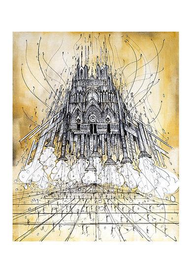 Envol Reims 2033 - Cathédrale Ocre