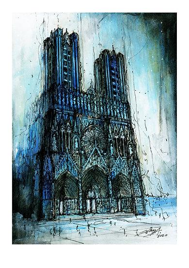 Notre Dame de Reims - Bleue 01