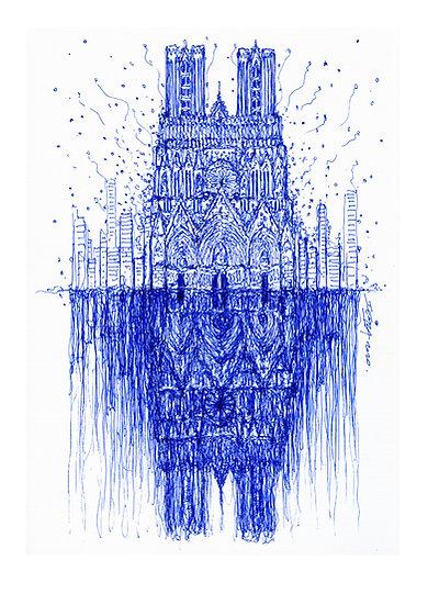 Notre Dame de Reims - Bleue 02