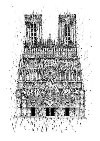 Notre Dame de Reims - Dentelle