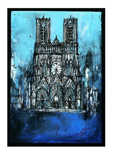 Notre Dame de Reims - Bleue 04