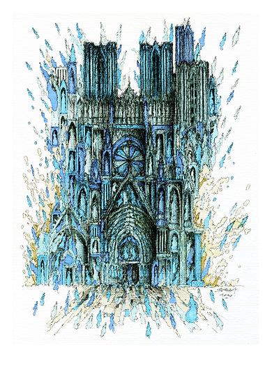Notre Dame de Reims - Bleue 03