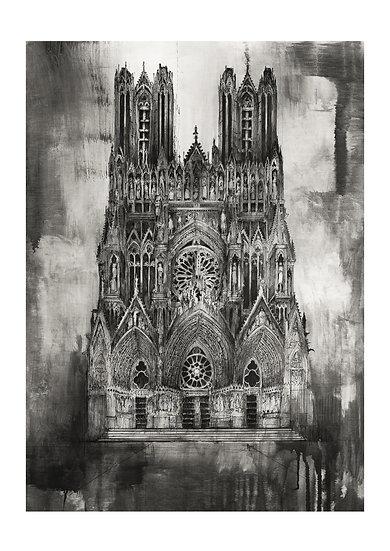Façade Nord de la Cathédrale - Reims
