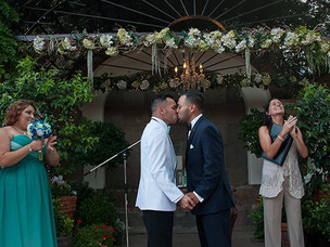 My very first same-sex male wedding!