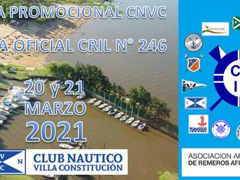 Regata Promocional CNVC y Regata Oficial CRIL Nº 246