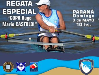 """Regata Especial """"Copa Hugo Castoldi"""" del Paraná Rowing Club"""