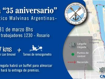 """Orden de largada de la Regata de Travesía """"35º Aniversario"""" del Club Náutico Malvinas Arge"""