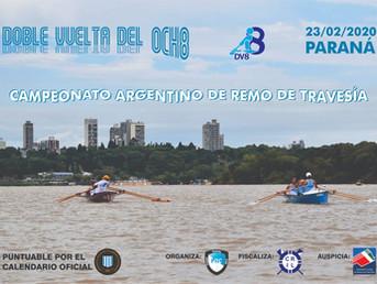 """Orden de largada de la Regata de Travesía """"Doble Vuelta del Ocho"""" del Paraná Rowing Club"""