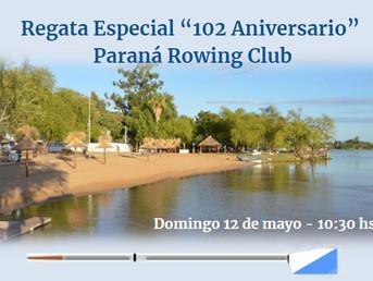 """Regata Especial """"102º Aniversario"""" del Paraná Rowing Club"""