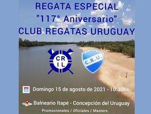 """Regata Especial """"117° Aniversario"""" del Club Regatas Uruguay"""