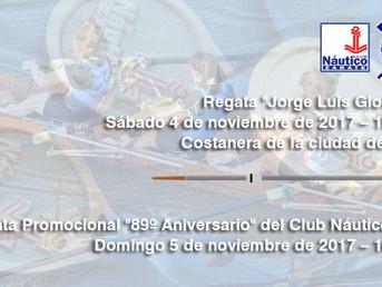 """Programa nominal de la Regata Promocional """"89º Aniversario"""" del Club Náutico Zárate"""