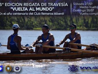 """Orden de largada de la Regata de Travesía """"Vuelta al Mundo"""" del Club Remeros Alberdi"""