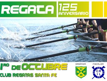 """Programa nominal de la Regata """"125º Aniversario"""" Club de Regatas Santa Fe"""