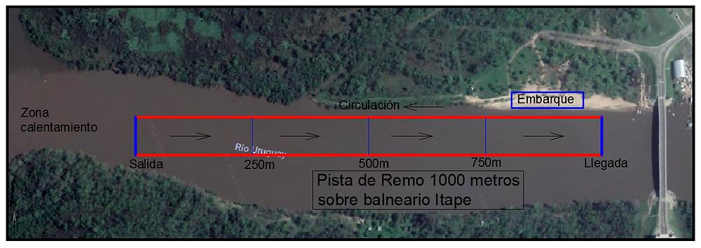 Pista de Remo - 1.000 metros