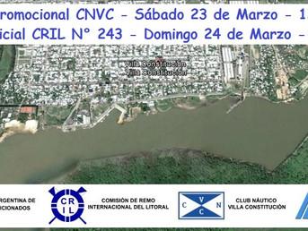 Programas de la Regata Promocional CNVC y de la Regata Oficial CRIL Nº 243