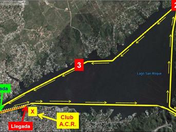 """Programa de la Travesía """"Vuelta al Lago"""" de la Asociación Cordobesa de Remo"""